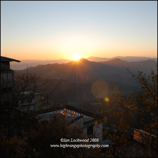 Sunrise from the Chanmari neighborhood Aizawl