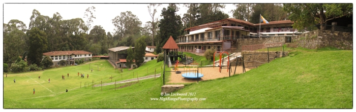 "THe Ganga Campus of KIS, site of the primary and middle schools. THe large area gives a sense of the ""old kodai""- cool, spacious and green."