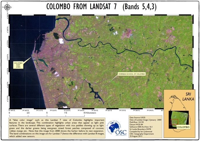 Colombo from Landsat 7 (2000)