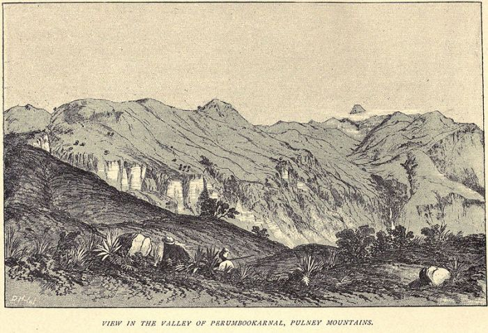 Douglas Hamilton's sketch of the same area. Done in the mid 19th Century and published in his posthumous 1892 book A Record of Sport in Southern India.