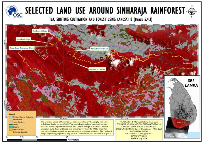 2014 Sinharaja Study Area (click on image for full 150 DPI A3 version).