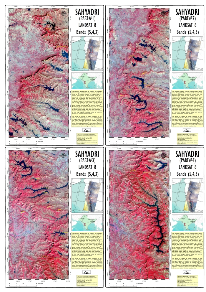 Four part Landsat study of the Sahyadris based on imagery collected in Feburary 2014.
