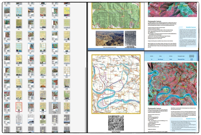 Screen shot of pages and examples of Landforms of India from Topmaps and Images