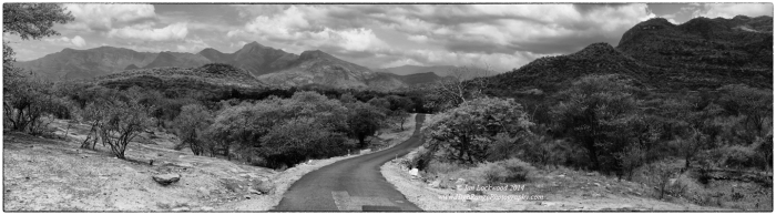 Road to Munnar through Chinnar Wildlife Sanctuary. Looking south into the High Range from Manjampatti Valley.