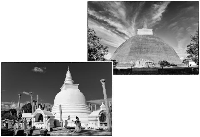 Thuparama and Jetavana Dagobas in Anuradhapura.