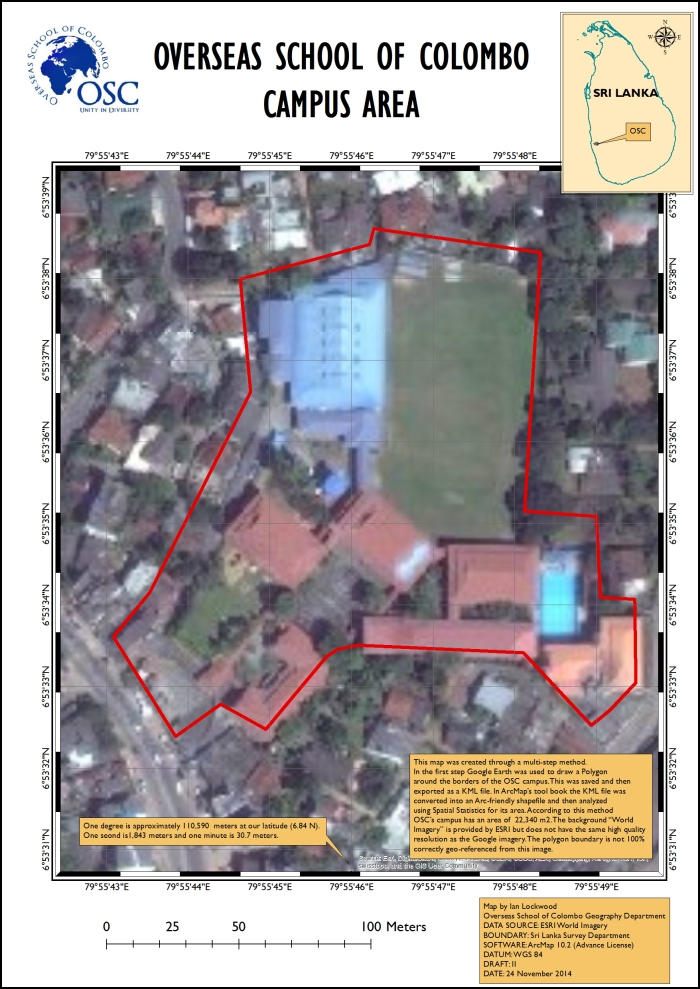ArcMap view of OSC