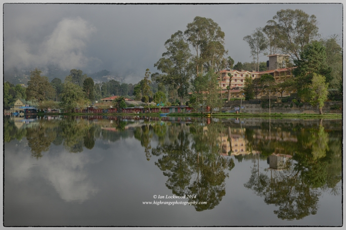 Kodaikanal lake reflection, December 2014.