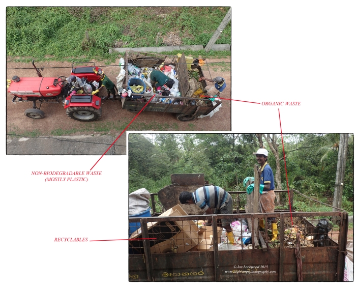 How domestic solid waste is collected from our home in Pelawatte, Sri Lanka.