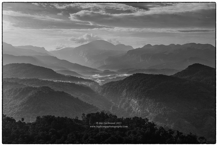 Anai Mudi and the Anai Mudi forests as seen from the edge of the Valparai Plateau to the peak's west.