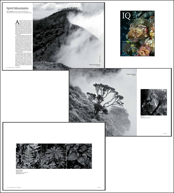 Some of the pages from the Indian Quarterly photo essay