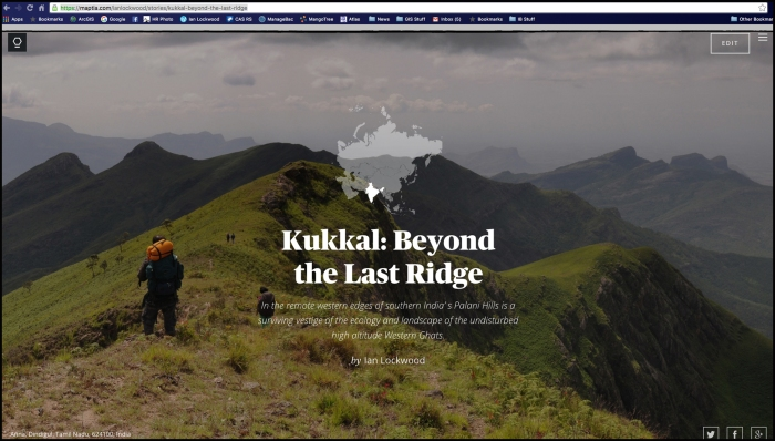 Screen shot of Maptia story on Kukkal (created in 2014).