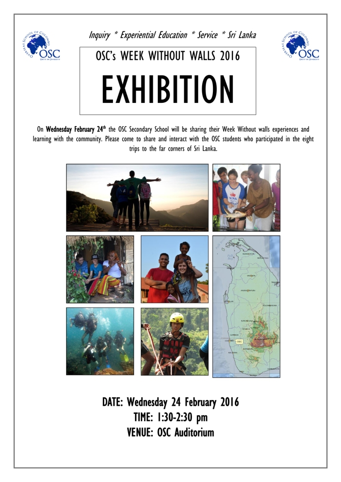 Week Without Walls Exhibition Poster 2016