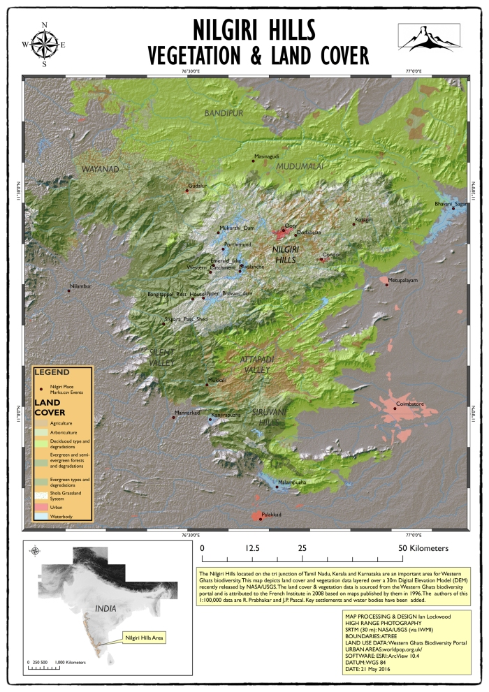 Nilgiri Hills Vegetation Map