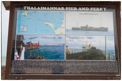 Signboard on the Talimanar pier.