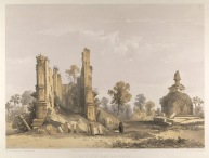 Ruins at Pallanarrua a lithograph by , Jonathan Needham (@1864) (Courtesy of the British Library's India Office)