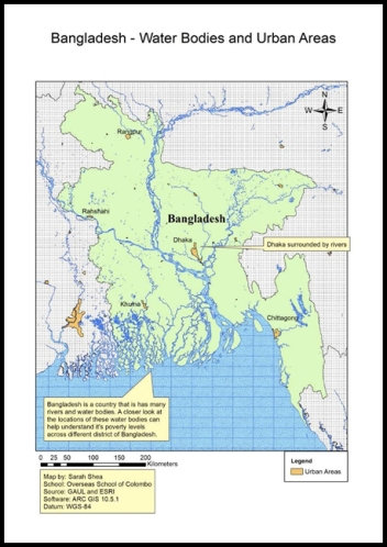 DP 1 Geography locational map of Bangladesh by Sarah (OSC Class of 2019)