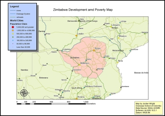 DP 1 Geography case study map of Zimbabwe by Jordan (OSC Class of 2019)