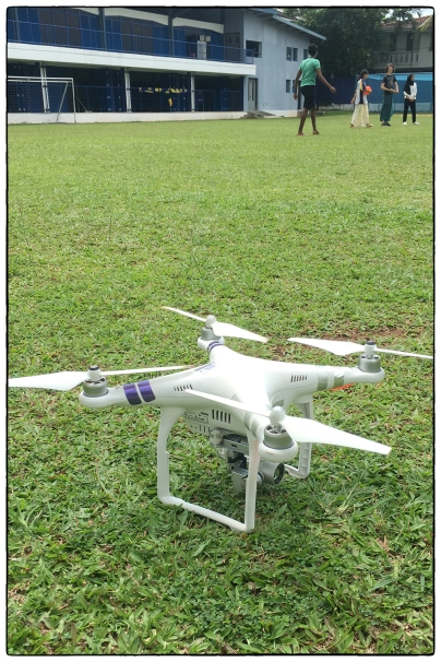 Getting the DJI Phantom ready to map the OSC campus