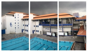 OSC pool just before a pre-monsoon deluge.