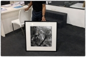 "Frame tests of a 20""x20"" print (without captions and signature lines) at Focus Gallery in Chennaii."