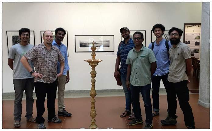 Ecologists in the audience: the artist with Arasumani, Vasanth Bosco, Robin Vijayan and Vijay Ramesh and others.
