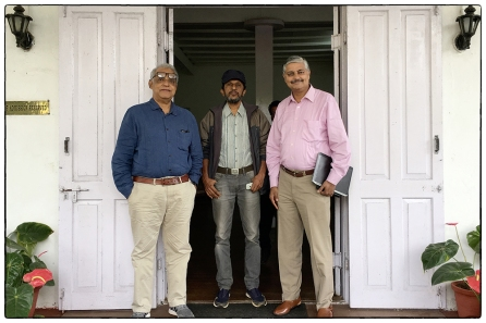 Jose Dominic, James Zacharias and Vivek Menon at the High Range Club preparing to leave for the conference.