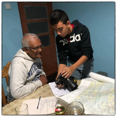 Lenny shares the first Morningside frog images with Professor Nimal Gunatilleke.