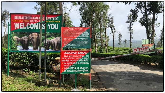 Signage at the Tamil Nadu Kerala border.