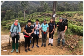 All smiles as our group gets ready to start the climb up to Sri Pada. (January 2020)
